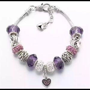 Jewelry - NEW CRYSTAL Beaded Charm Bracelet